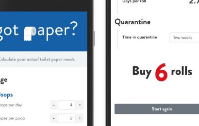 This online calculator tells you exactly how much toilet roll you actually need to buy