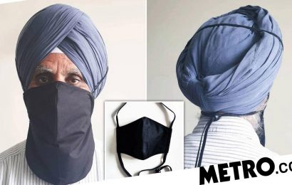 Sikh man creates longer face masks for people with beards and turbans