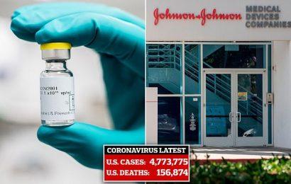 US will pay J&J $1billion for 100 million coronavirus vaccine doses