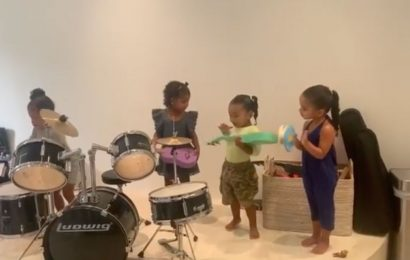 Stormi Webster, True Thompson, Chicago West & Dream Kardashian Are the Cutest Family Band
