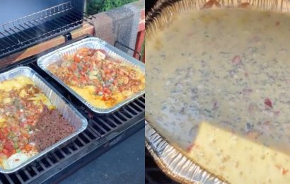 People On TikTok Are Making Homemade Queso On The Grill and It's So Genius