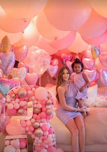 See Inside True Thompson's Third Birthday Party Complete with Disney Princesses and a Bounce House